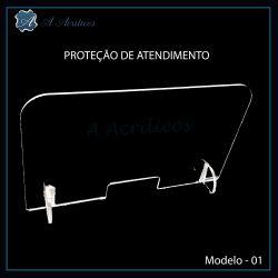 Protetor de Atendimento em Acrilico   Modelo - 01