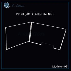 """Protetor de Atendimento em """"L""""  e  Acrílico Modelo-2"""