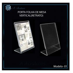 Porta Folha  A4 (30 x 21cm) - Escolha Posição e Espessura